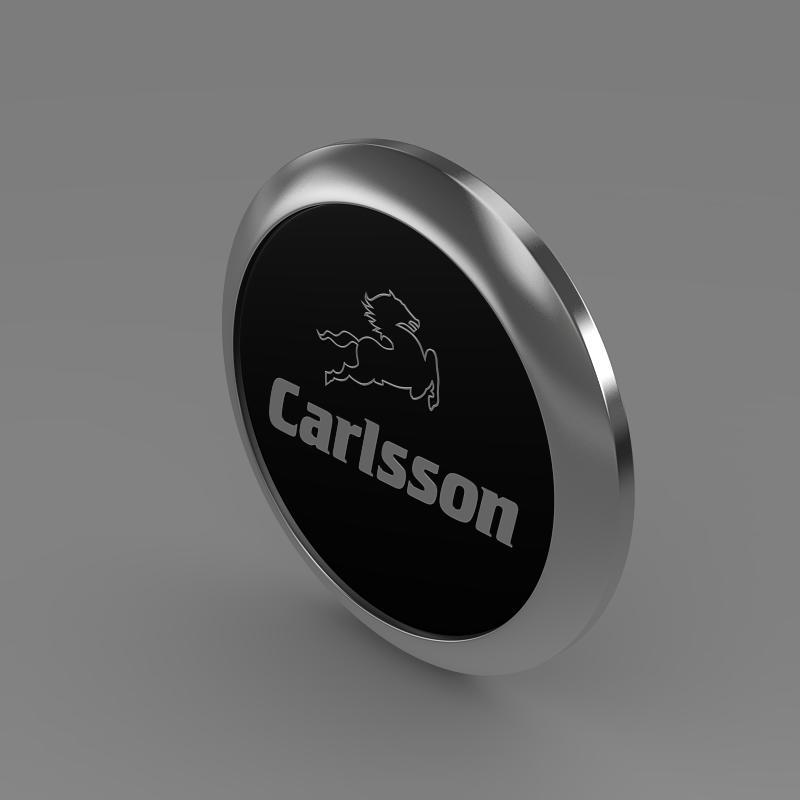 carlsson logo 3d model 3ds max fbx c4d lwo ma mb hrc xsi obj 155224