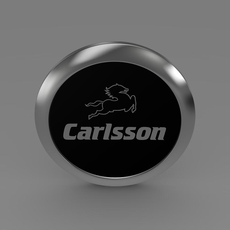 carlsson logo 3d model 3ds max fbx c4d lwo ma mb hrc xsi obj 155225