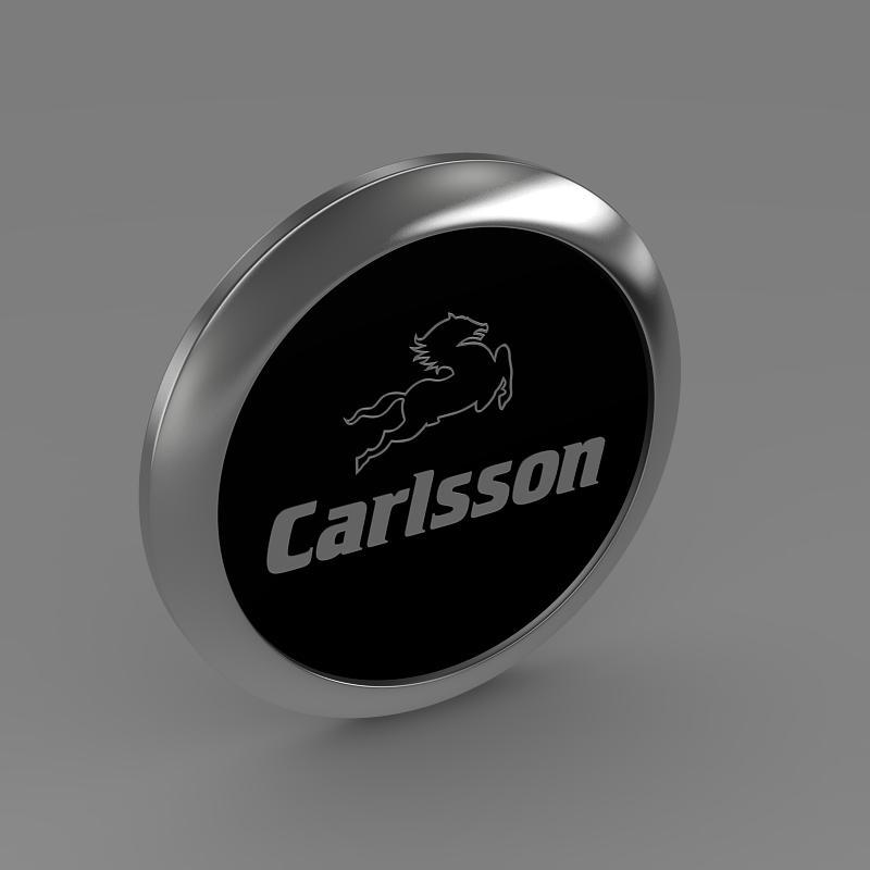 carlsson logo 3d model 3ds max fbx c4d lwo ma mb hrc xsi obj 155226