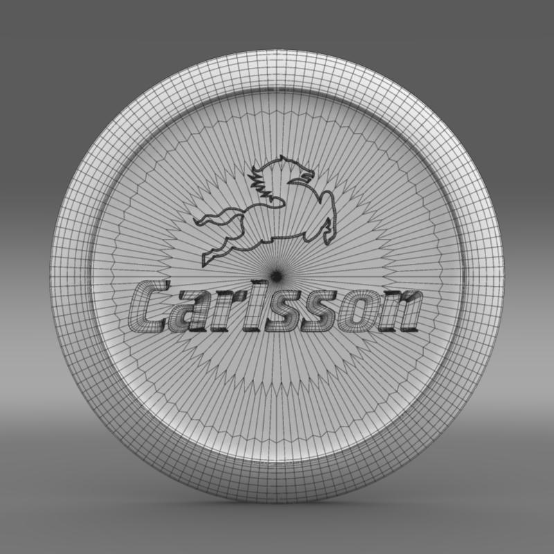 carlsson logo 3d model 3ds max fbx c4d lwo ma mb hrc xsi obj 155227