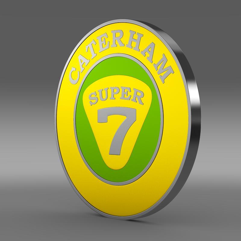 caterham logo 3d model 3ds max fbx c4d lwo ma mb hrc xsi obj 151301
