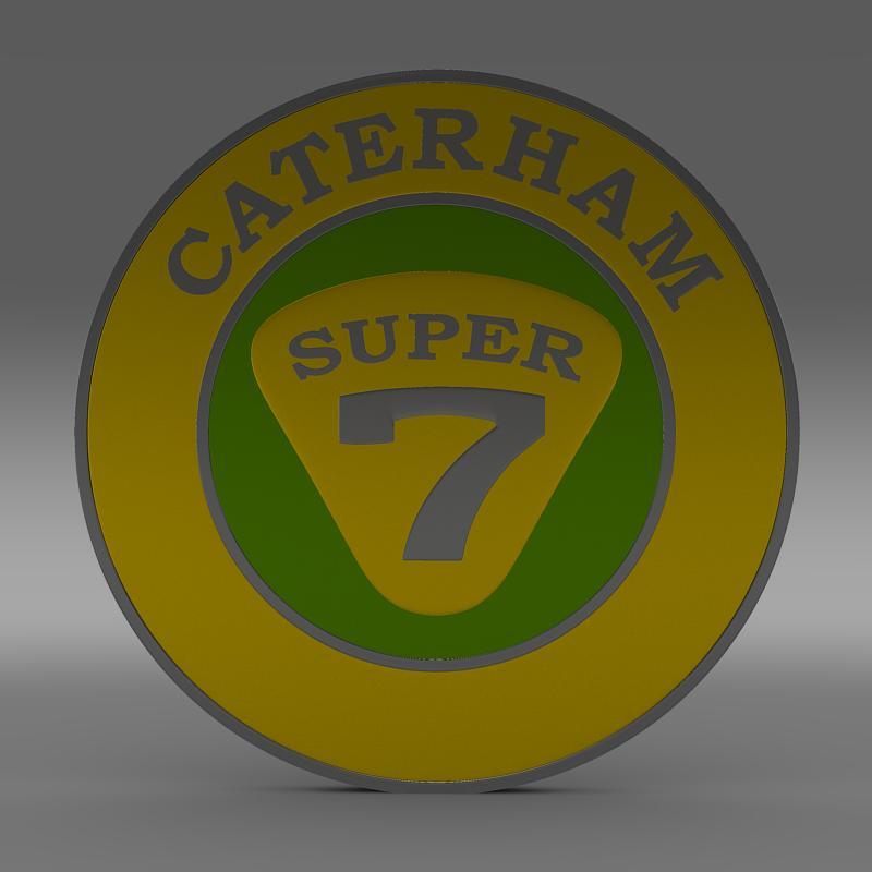 caterham logo 3d model 3ds max fbx c4d lwo ma mb hrc xsi obj 151302