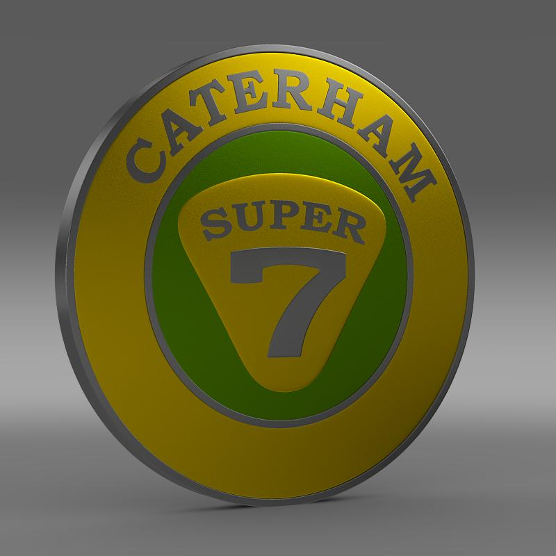 caterham logo 3d model 3ds max fbx c4d lwo ma mb hrc xsi obj 151303