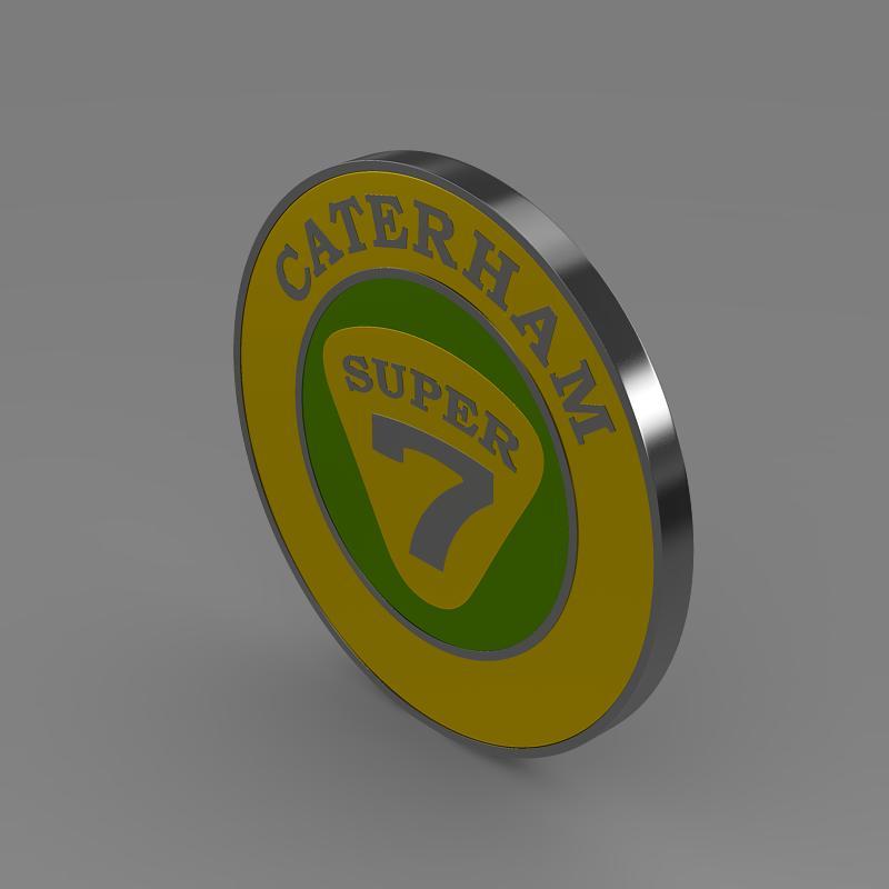 caterham logo 3d model 3ds max fbx c4d lwo ma mb hrc xsi obj 151304