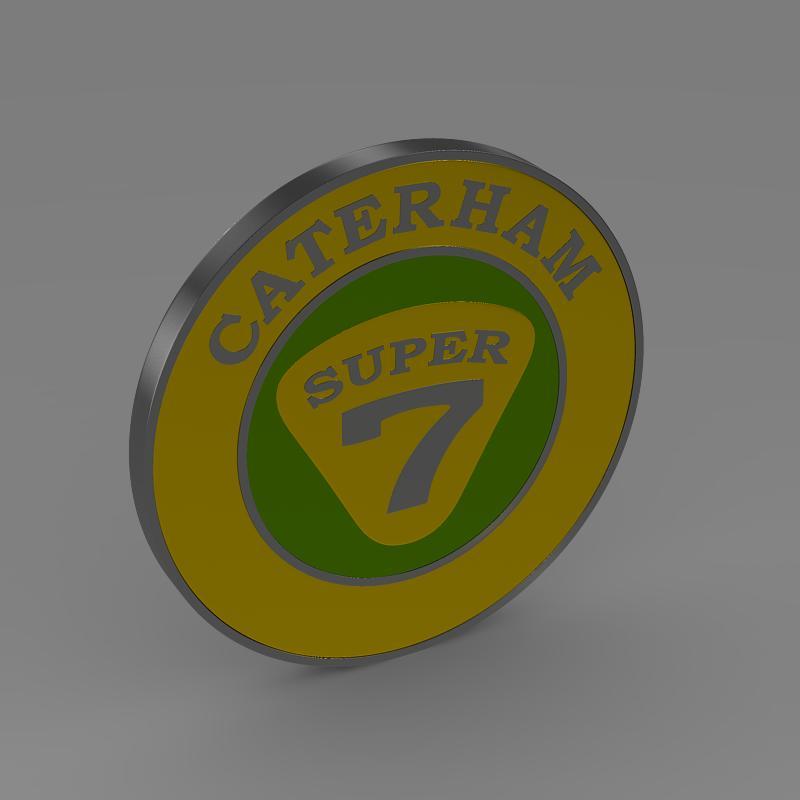caterham logo 3d model 3ds max fbx c4d lwo ma mb hrc xsi obj 151306