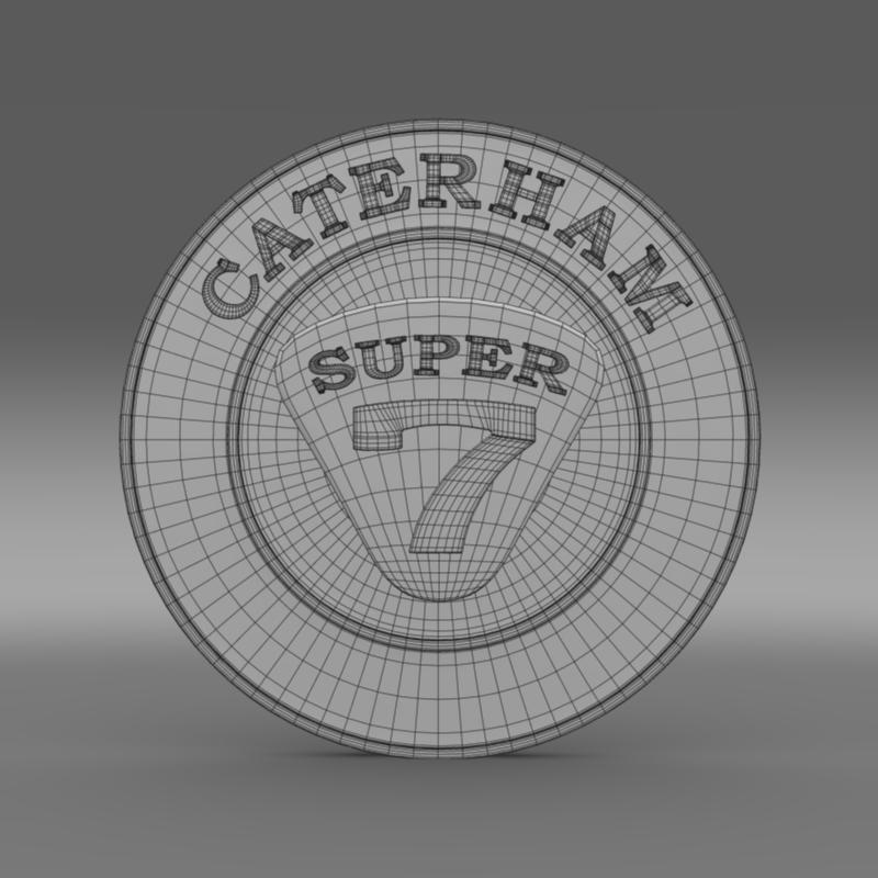caterham logo 3d model 3ds max fbx c4d lwo ma mb hrc xsi obj 151307