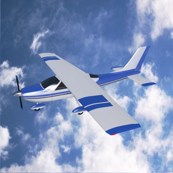 cessna cardinal propeller eitleán 3d samhail 3ds fbx blend dae lwo 162714