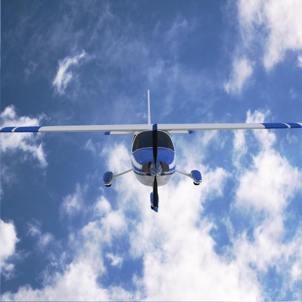 cessna cardinal propeller eitleán 3d samhail 3ds fbx blend dae lwo 162715
