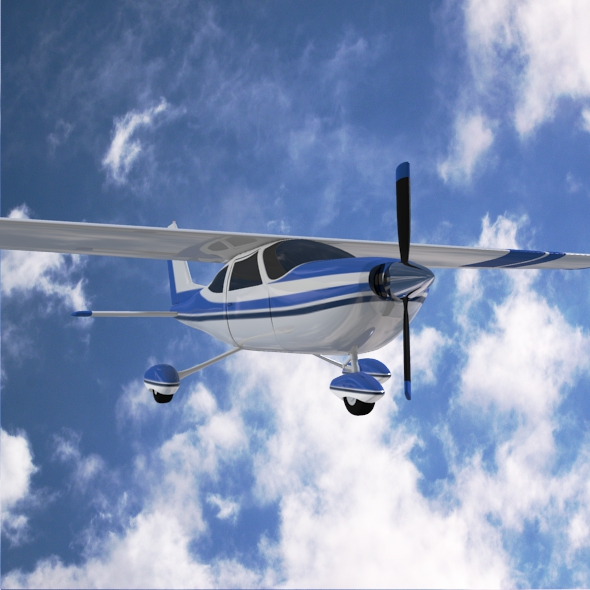 cessna cardinal propeller eitleán 3d samhail 3ds fbx blend dae lwo 162719