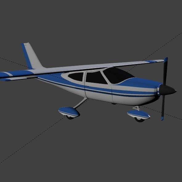 cessna cardinal propeller eitleán 3d samhail 3ds fbx blend dae lwo 162720