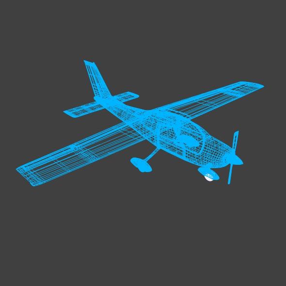 cessna cardinal propeller eitleán 3d samhail 3ds fbx blend dae lwo 162721