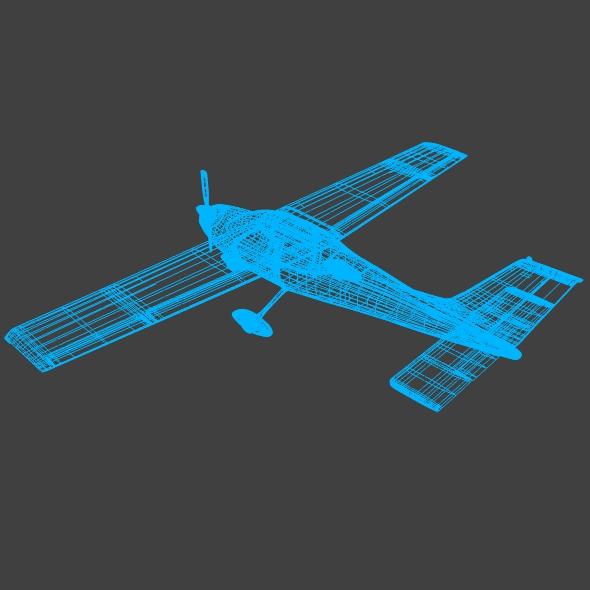 cessna cardinal propeller eitleán 3d samhail 3ds fbx blend dae lwo 162722