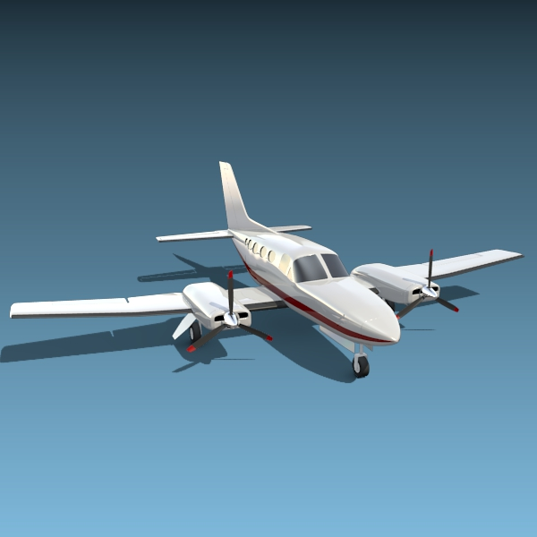 cessna chancellor avió privat 3d model 3ds fbx blend lwo obj 142031