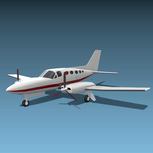cessna chancellor private aircraft 3d model 3ds fbx blend lwo obj 142032