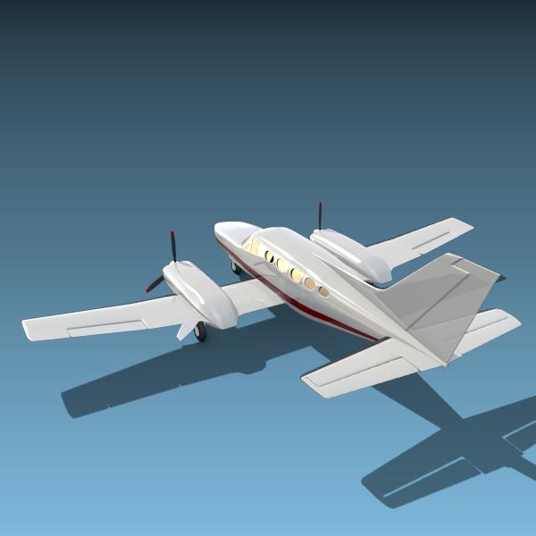 cessna chancellor private aircraft 3d model 3ds fbx blend lwo obj 142033