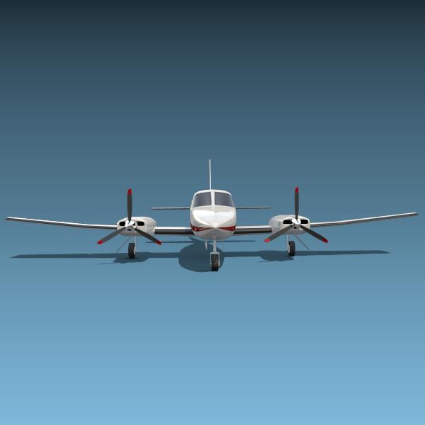 cessna chancellor private aircraft 3d model 3ds fbx blend lwo obj 142034