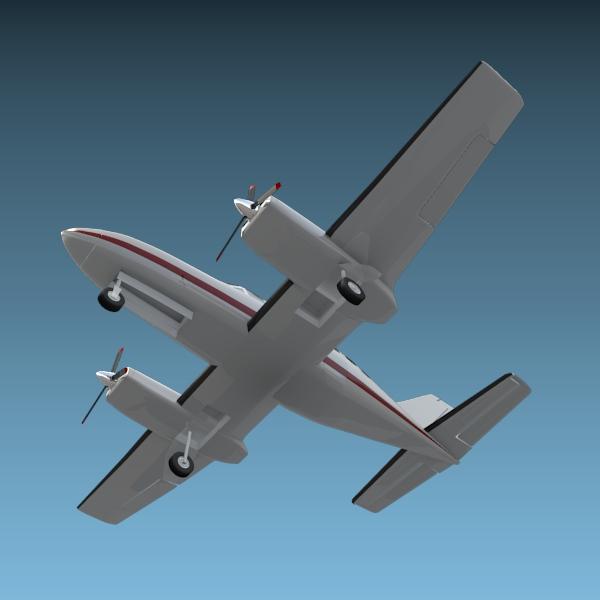 cessna chancellor private aircraft 3d model 3ds fbx blend lwo obj 142035