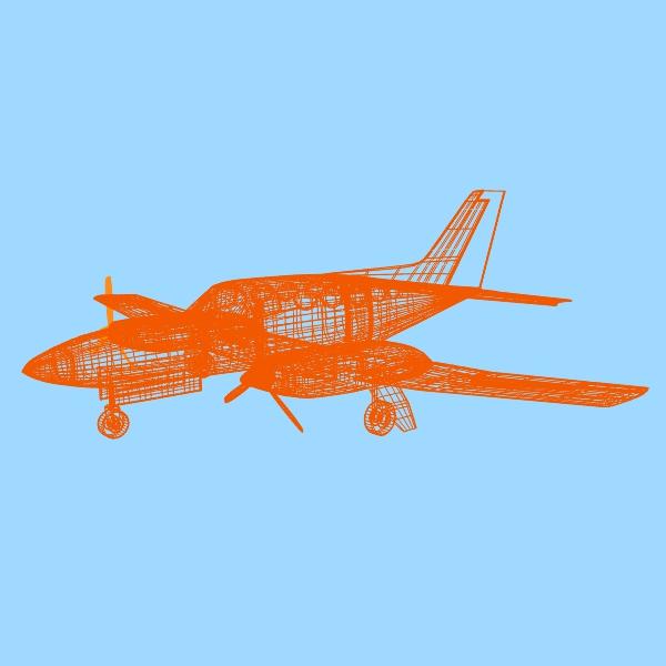 cessna chancellor private aircraft 3d model 3ds fbx blend lwo obj 142036