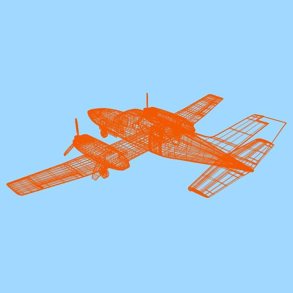 cessna chancellor private aircraft 3d model 3ds fbx blend lwo obj 142037
