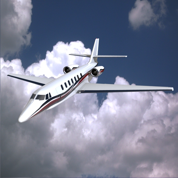 cessna citation sovereign biznes jet 3d modeli 3ds fbx qarışığı obj 156164