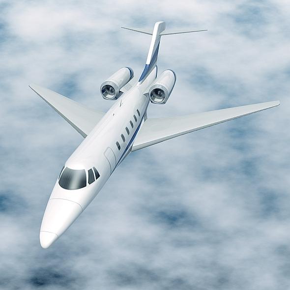 cessna citation x private jet 3d model 3ds fbx blend lwo obj 161593
