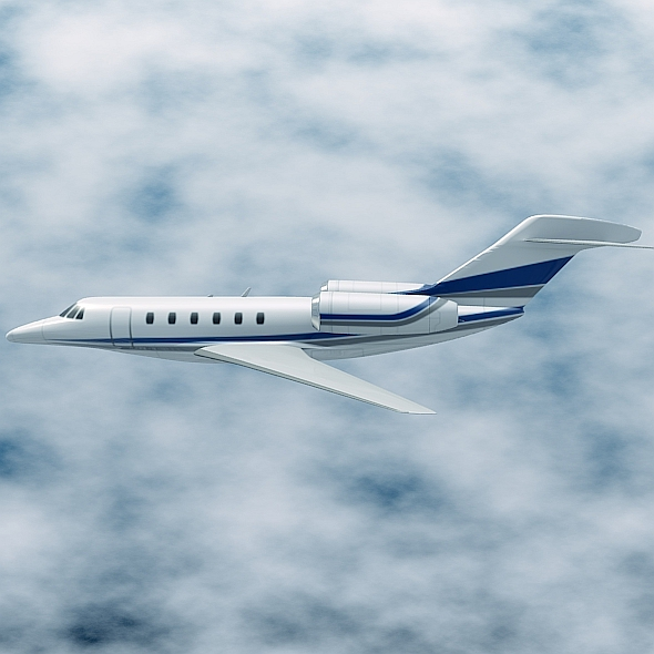 cessna citation x private jet 3d model 3ds fbx blend lwo obj 161594