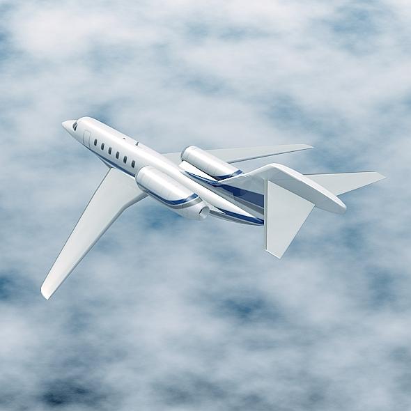 cessna citation x private jet 3d model 3ds fbx blend lwo obj 161595