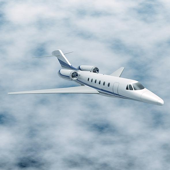 cessna citation x private jet 3d model 3ds fbx blend lwo obj 161596
