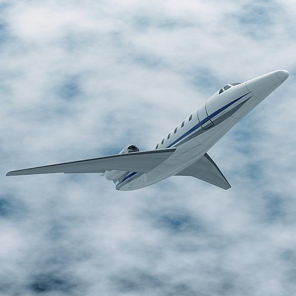cessna citation x private jet 3d model 3ds fbx blend lwo obj 161597