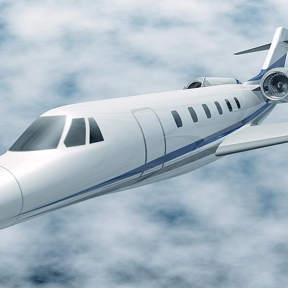cessna citation x private jet 3d model 3ds fbx blend lwo obj 161598