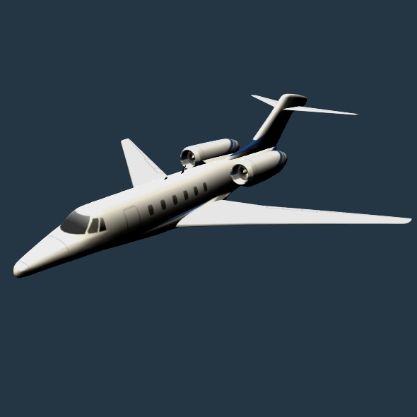 cessna citation x private jet 3d model 3ds fbx blend lwo obj 161599