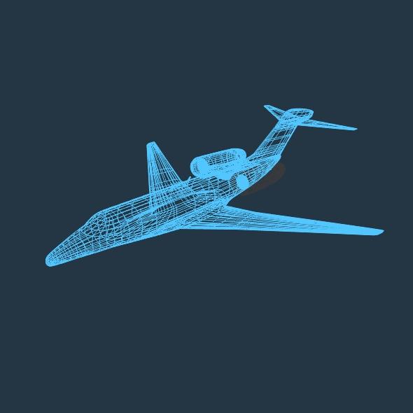 cessna citation x private jet 3d model 3ds fbx blend lwo obj 161600