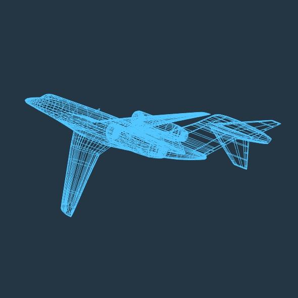 cessna citation x private jet 3d model 3ds fbx blend lwo obj 161601