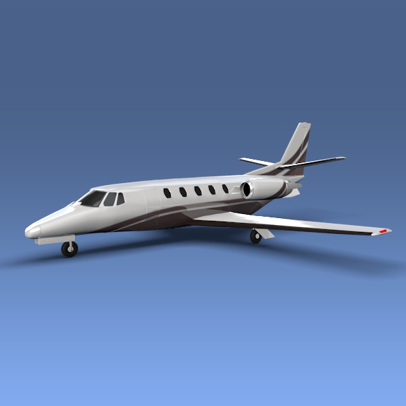 cessna citation xls + poslovni jet 3d model 3ds fbx blend lwo obj 153303