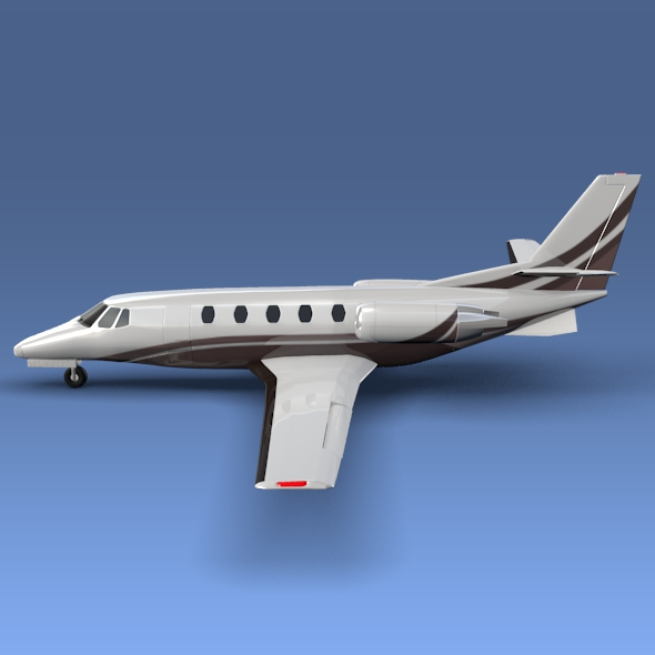 cessna citation xls+ business jet 3d model 3ds fbx blend lwo obj 153304