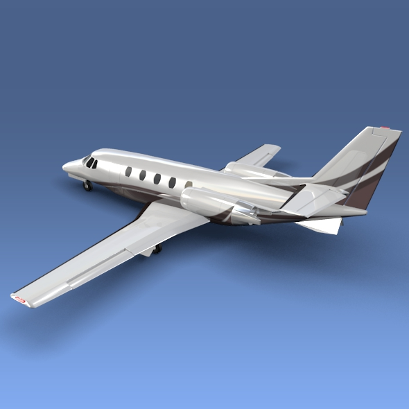 cessna citation xls+ business jet 3d model 3ds fbx blend lwo obj 153305