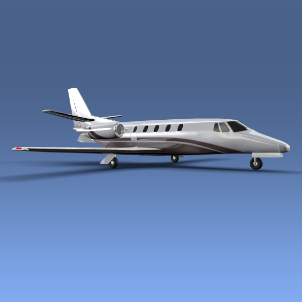 cessna citation xls+ business jet 3d model 3ds fbx blend lwo obj 153307