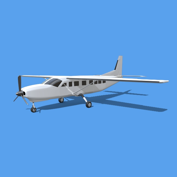 cessna grand caravan 3d model 3ds fbx blend lwo obj 146837