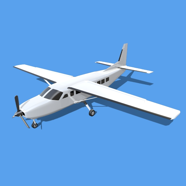 cessna grand caravan 3d model 3ds fbx blend lwo obj 146838