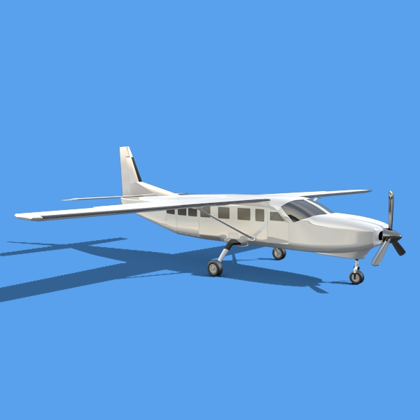 cessna grand caravan 3d model 3ds fbx blend lwo obj 146840