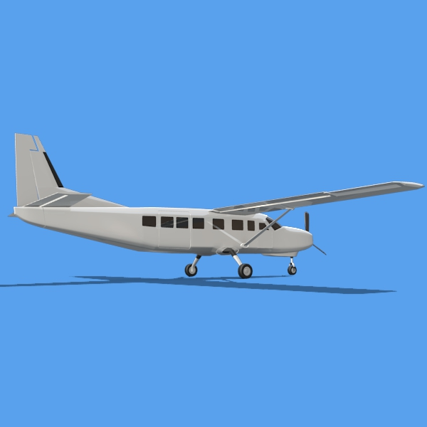 cessna grand caravan 3d model 3ds fbx blend lwo obj 146841