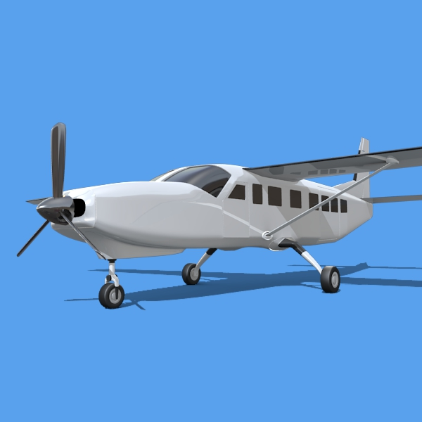 cessna grand caravan 3d model 3ds fbx blend lwo obj 146842
