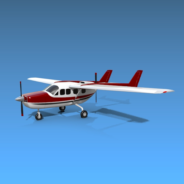 model skuter kipas angin cessna 3d model 3ds fbx blend dae lwo obj 162704