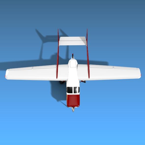 Cessna Skymaster skrúfuflugvélar 3d líkan 3ds fbx blend dagen lwo obj 162709