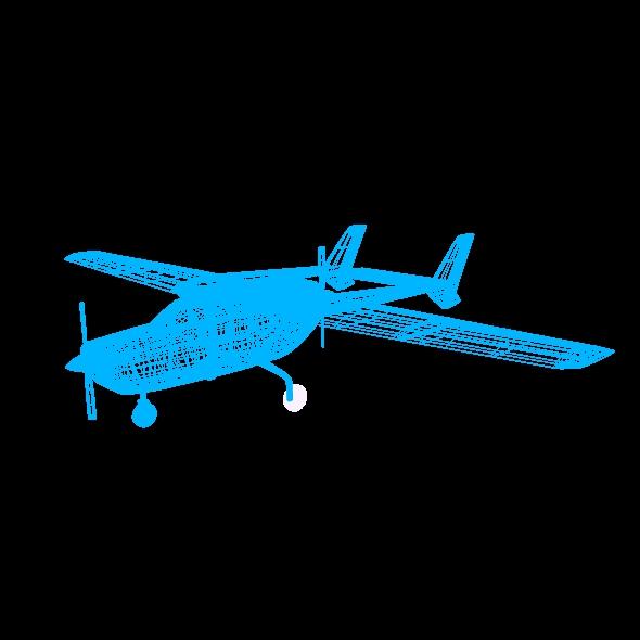 Cessna Skymaster skrúfuflugvélar 3d líkan 3ds fbx blend dagen lwo obj 162711