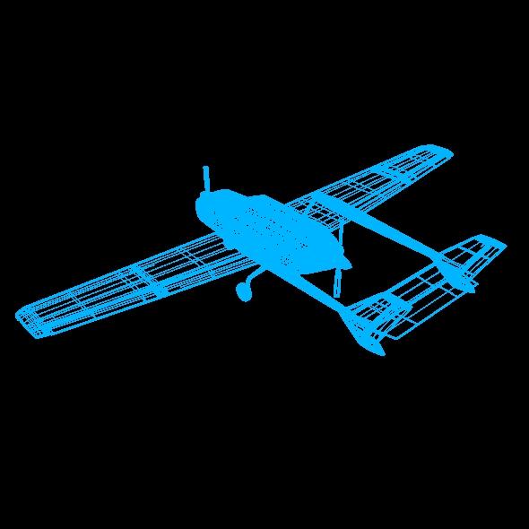 Cessna Skymaster skrúfuflugvélar 3d líkan 3ds fbx blend dagen lwo obj 162712