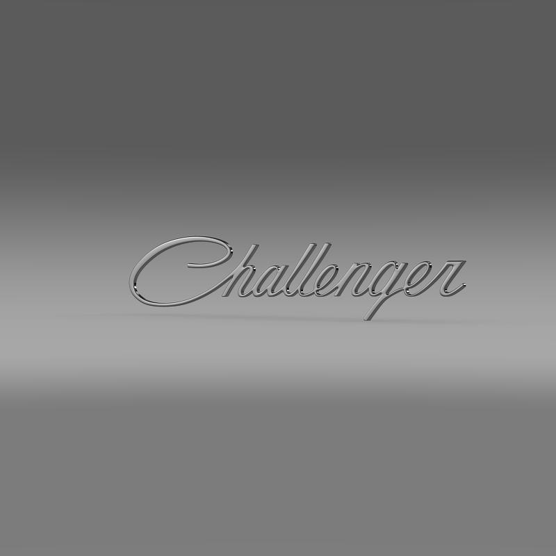 challenger logo 3d model 3ds max fbx c4d lwo ma mb hrc xsi obj 162814