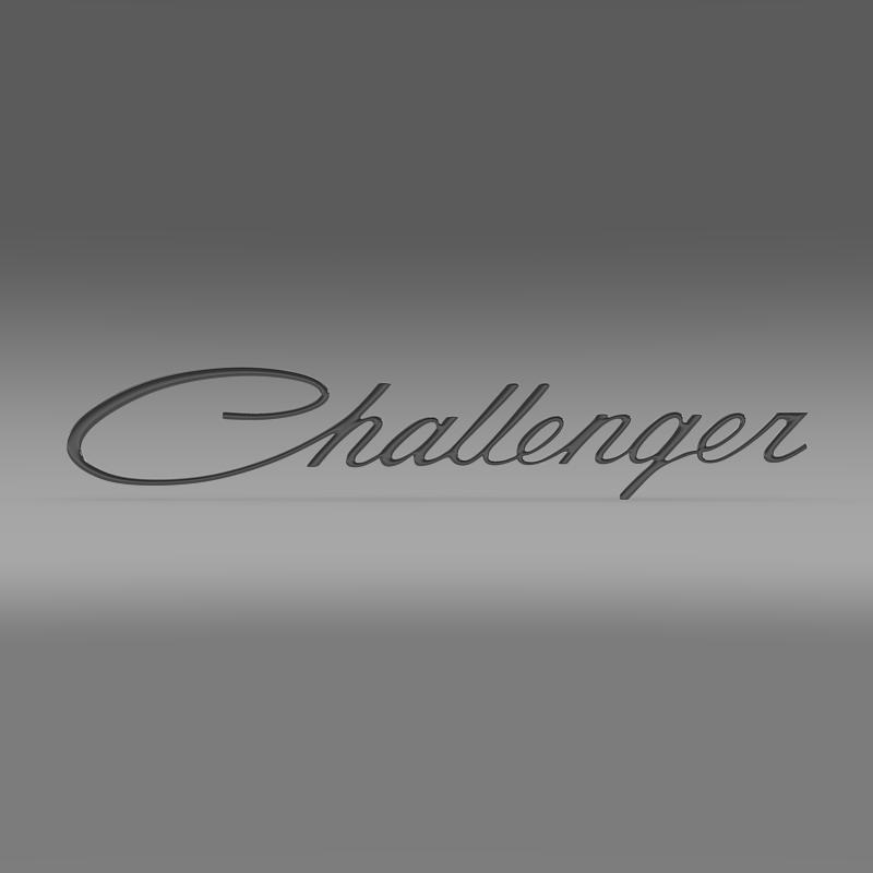 challenger logo 3d model 3ds max fbx c4d lwo ma mb hrc xsi obj 162815