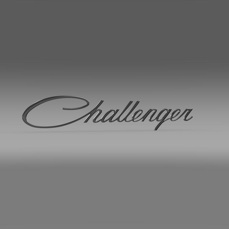 challenger logo 3d model 3ds max fbx c4d lwo ma mb hrc xsi obj 162816