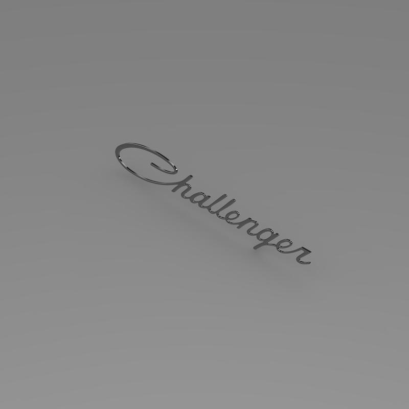 challenger logo 3d model 3ds max fbx c4d lwo ma mb hrc xsi obj 162817